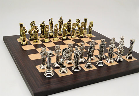 Athena Chess Set - Wooden Board