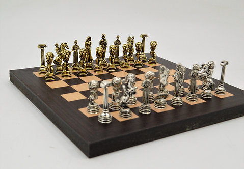 Atlas MINI Chess Set - Wooden Board