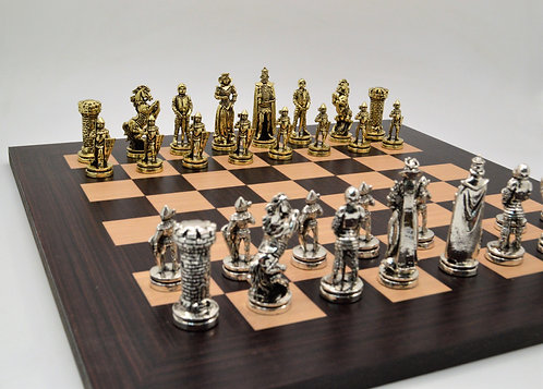 Medieval Chess Set - Wooden Board