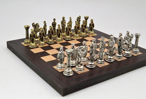 Agamemnon MINI Chess Set - Wooden Board