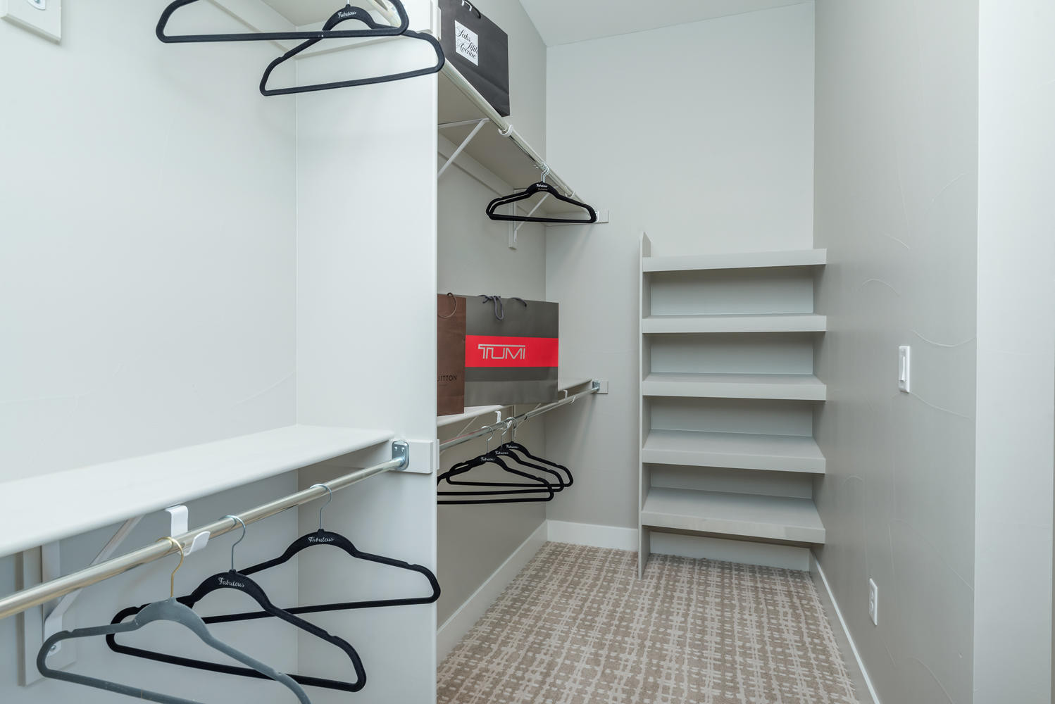Master Walk-In Closet - His