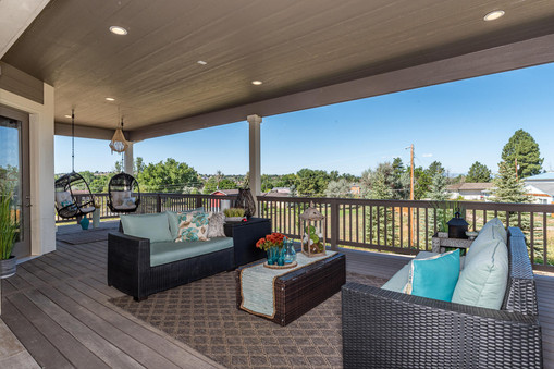 Oversized Covered Rear Deck