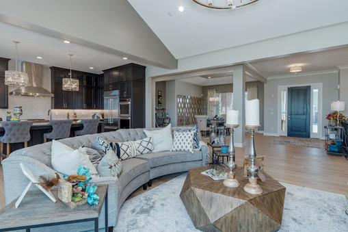 Great Room, Kitchen, Dining Room, and Foyer