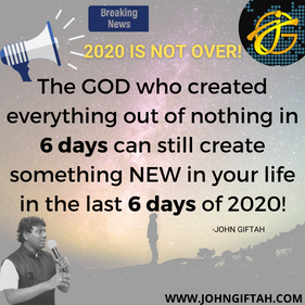 The GOD who created everything out of no