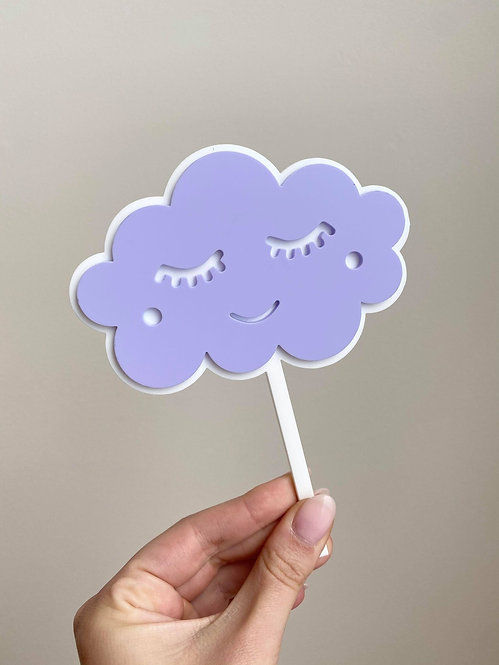 VIOLET CLOUD TOPPER