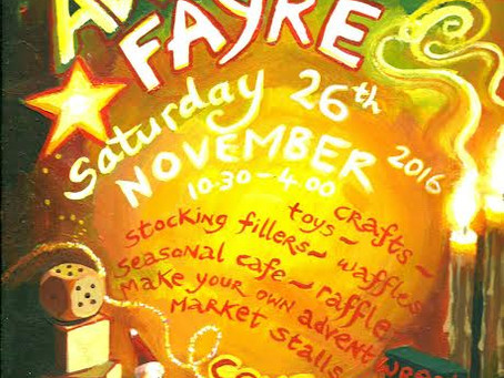 Into the Wild Wood at Iona advent fayre, Saturday 26th November