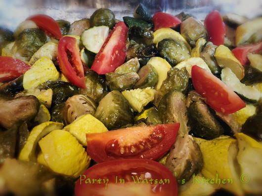 Roasted veggie salad