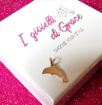 Ciondolo Delfino rosè