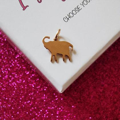 Ciondolo Elefante rosè