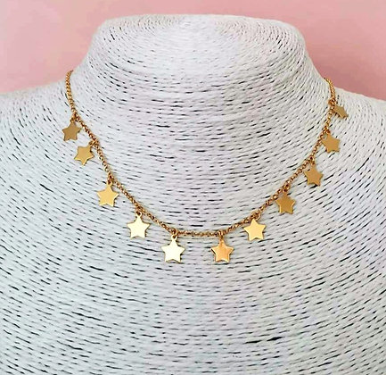 Collana maxi stelle gold