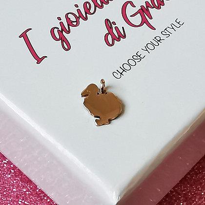 Ciondolo Dodo rosè