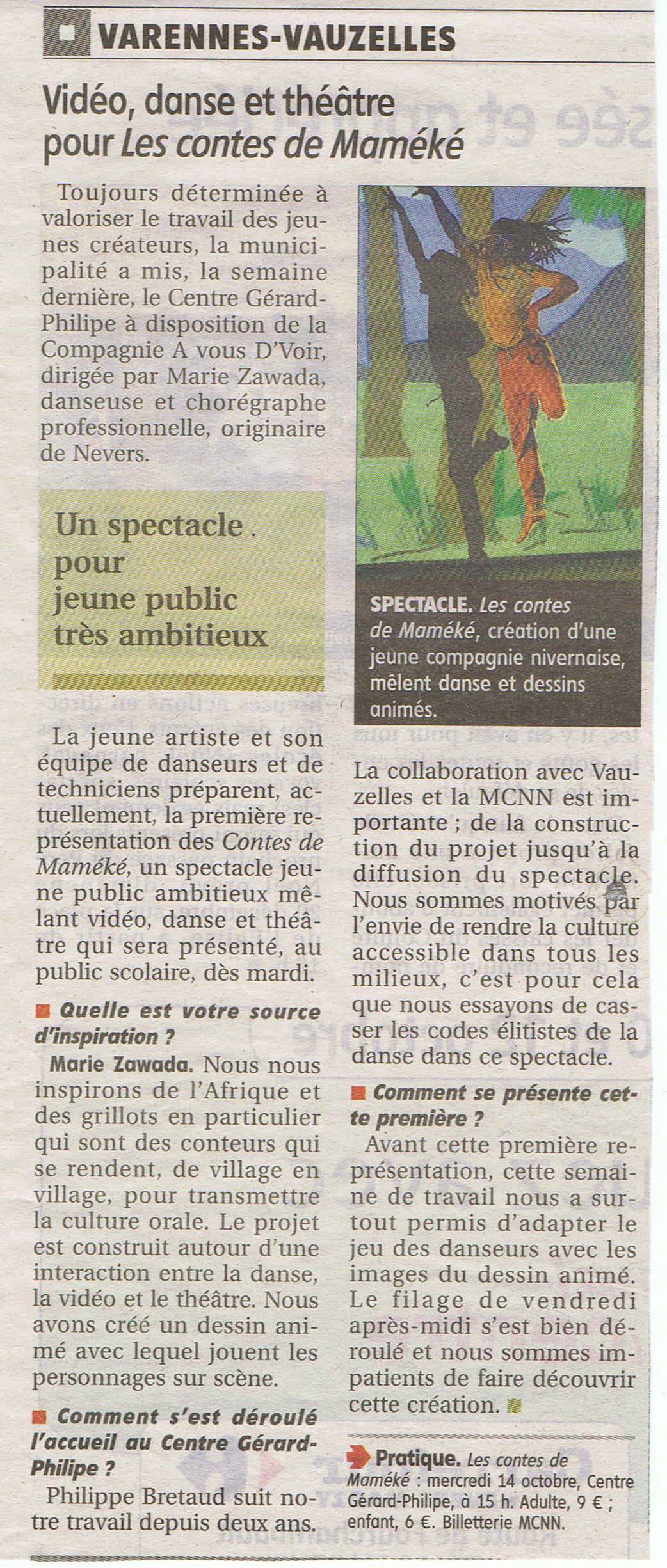 Le Journal du Centre 12 octobre 2015