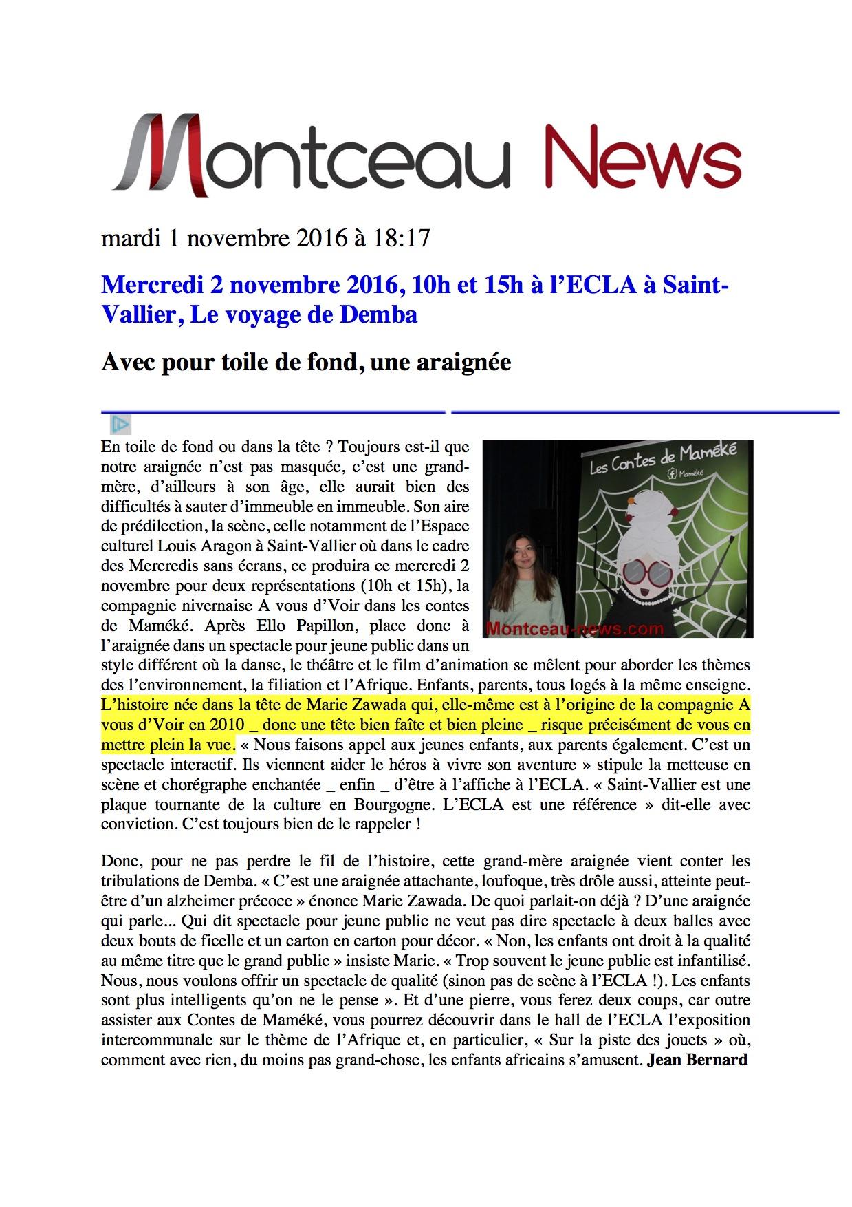 Maméké-montceau_news-01_novembre_2016