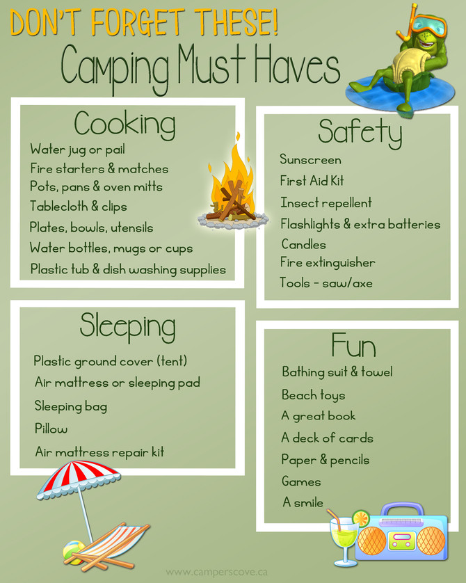 Don't Forget These Camping Must Haves!