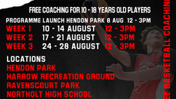 Free Basketball Sessions (Socially Distanced)