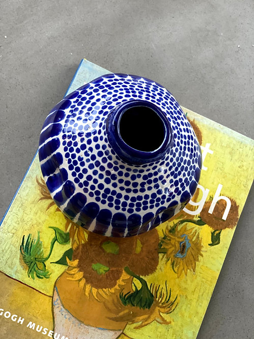 Patterns Cobalt Mini Vase