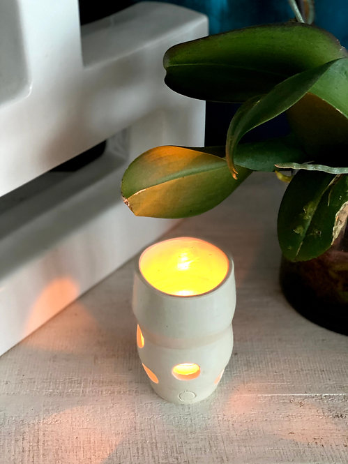 Small Porcelain Candle Holder