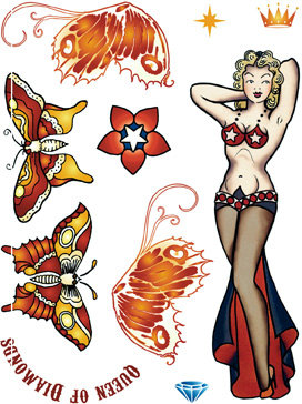 Butterfly Queen Rubber