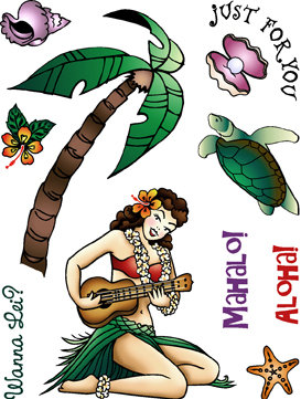 Hawaiian Girl Digital