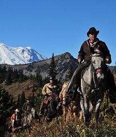 horseback riding mountain trails