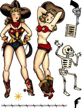 Retro Cowgirls Rubber