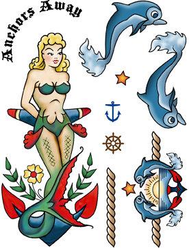 Mermaid Anchor Rubber