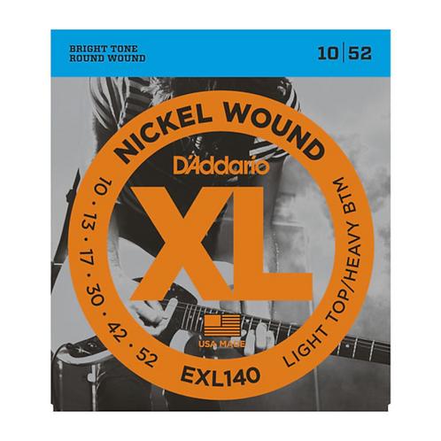 EXL140 Nickel Wound, Light Top/Heavy Bottom, 10-52