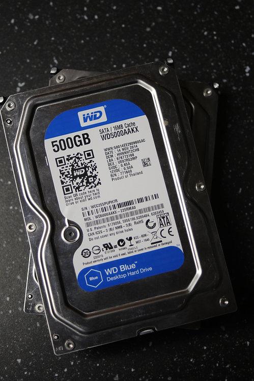 Festplatte 500GB - WD5000AAKX (gebraucht) (geprüft)