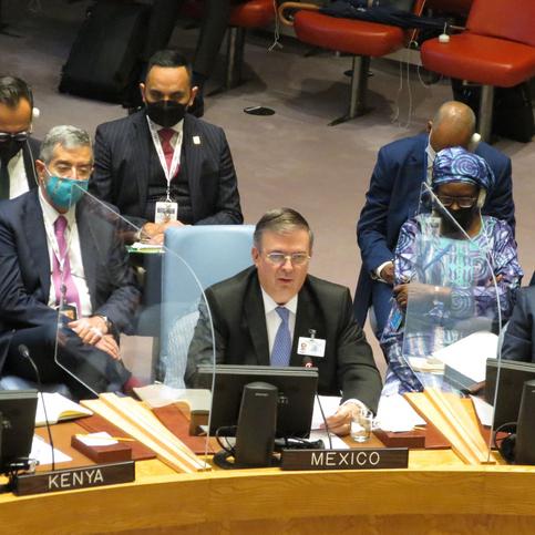 Advierte México amenaza global en reunión del Consejo de Seguridad de la ONU sobre Clima y Seguridad
