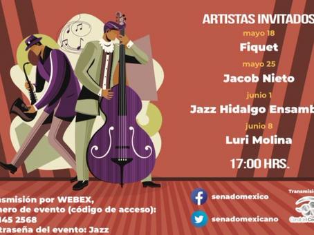 """Senado, sede del """"Primer Ciclo de Jazz Mexicano 2021"""""""