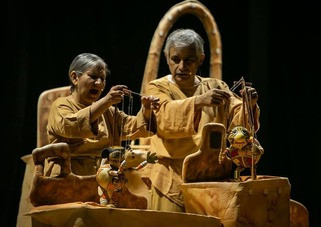 Teatro a domicilio a través del programa Helénico en Los Pinos