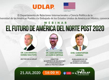 Hoy, panel sobre el  futuro de América del Norte en la UDLAP