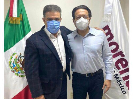 Se reúne Presidente Nacional de Morena con Carlos Lomelí, aspirante a gobernar Guadalajara