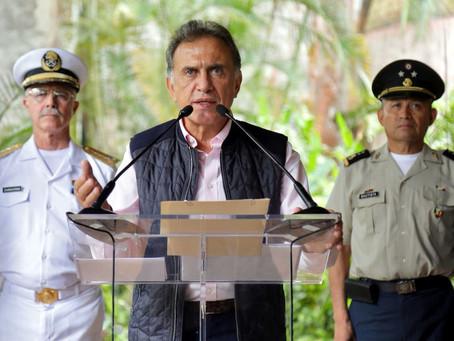 Advierte Yunes Linares uso de armas para evitar robo de trenes
