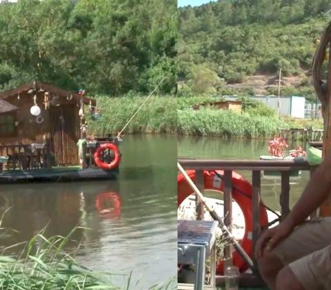 Hombre construye casa flotante para refugiarse durante la pandemia de Covid-19
