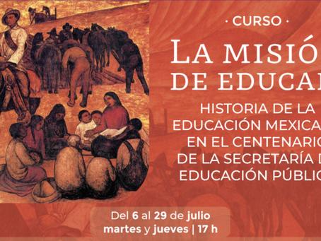 El INEHRM abre un curso en línea sobre historia de la educación, en el centenario de la SEP