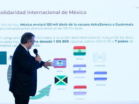 Llegaron a México 25 millones de vacunas durante julio: SRE