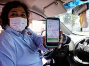 """Viaja segura con """"MI TAXI"""" de la app CDMX"""