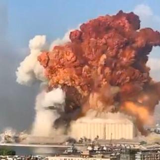 Se registra una explosión masiva en Beirut capital de Líbano