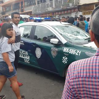 Policía Auxiliar de Cuajimalpa evita linchamiento en San Pablo Chimalpa