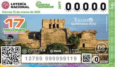 Develan billete de lotería de la Zona Arqueológica de Tulum