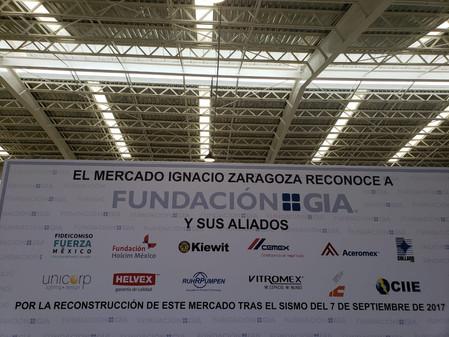 Fundación GIA reconstruye mercado Ignacio Zaragoza