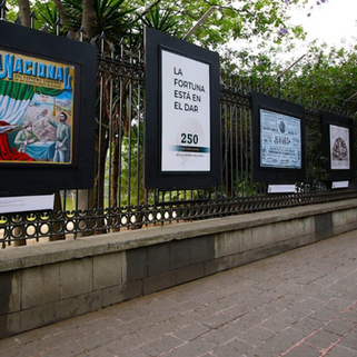 250 años de historia de la Lotería Nacional, en la galería abierta de las rejas de Chapultepec