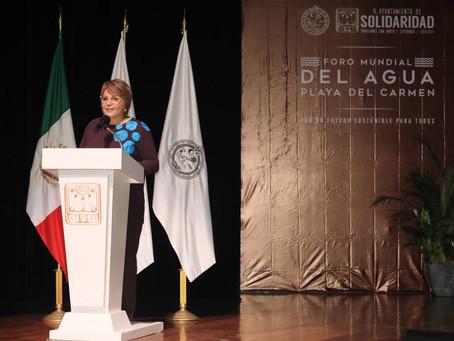 Inicia Foro Mundial del Agua, lo inaugura Laura Beristain