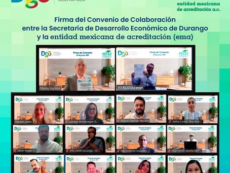 EMA y Sedeco Durango buscan fortalecer el Sistema de Infraestructura de la Calidad