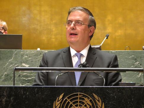México pide fortalecer sistema multilateral en la Asamblea General de la ONU