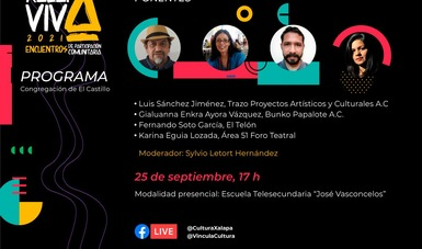 """Anuncian conversatorio """"Xalapa Viva. Encuentros de participación comunitaria 2021"""""""