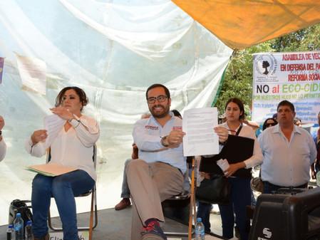 Va Romo por la defensa del Parque Reforma Social en MH