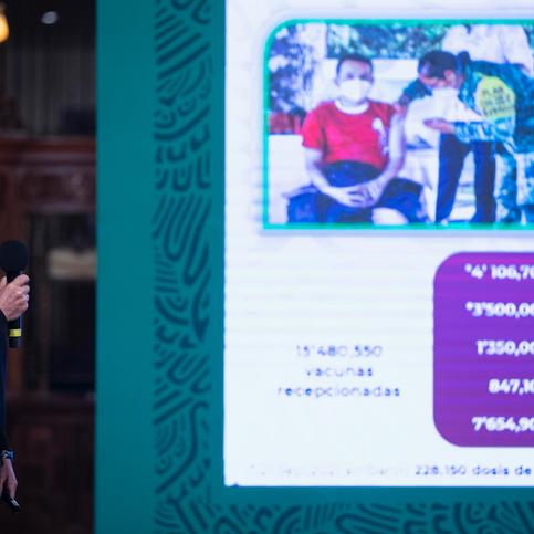 Anuncian vacunación de Covid-19 para un millón de menores de 18 años