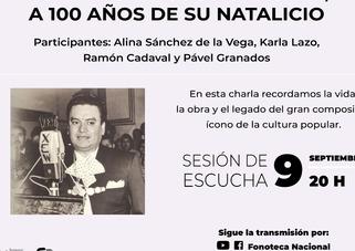Fonoteca Nacional rendirá homenaje a Cuco Sánchez a 100 años de su nacimiento